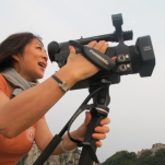 Joanne Cheng shoots on top of Mt Tai