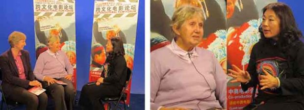 Joanne Cheng interviews Ursula Wolte and Isabel Wolte after the forum
